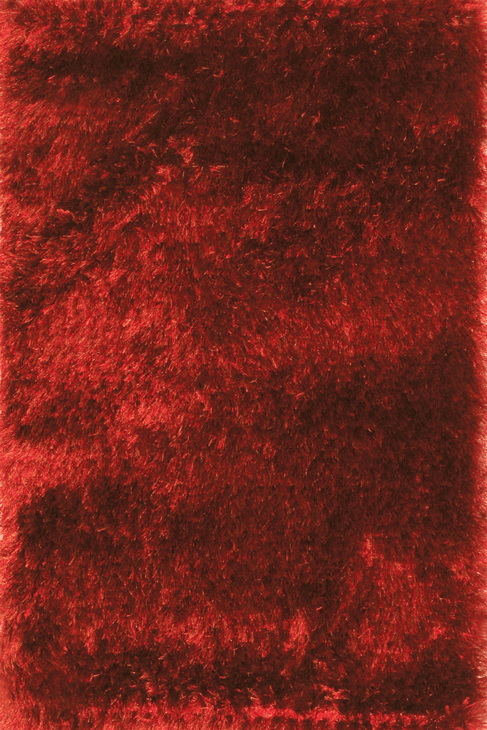 Red Shaggy Plain Rug for your Retro Interior Design Style - Australia