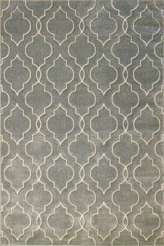 Grey Trellis Patterned rugs - Modern Abstract Contemporary Interior Design Style - Australia