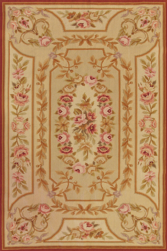 Tapestry Floral Hand Knotted Wool Rug