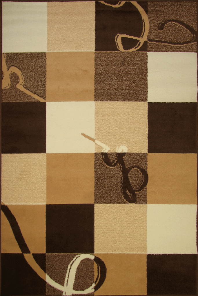 Tempo Modern Square Pattern Rug