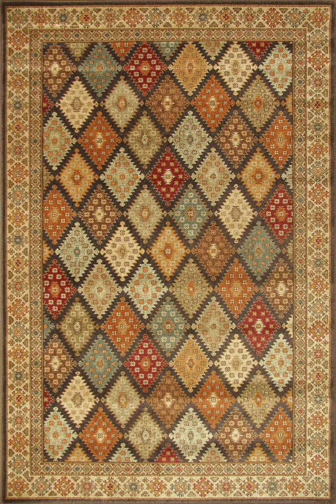 Timeless Traditional Diamond Pattern Rug