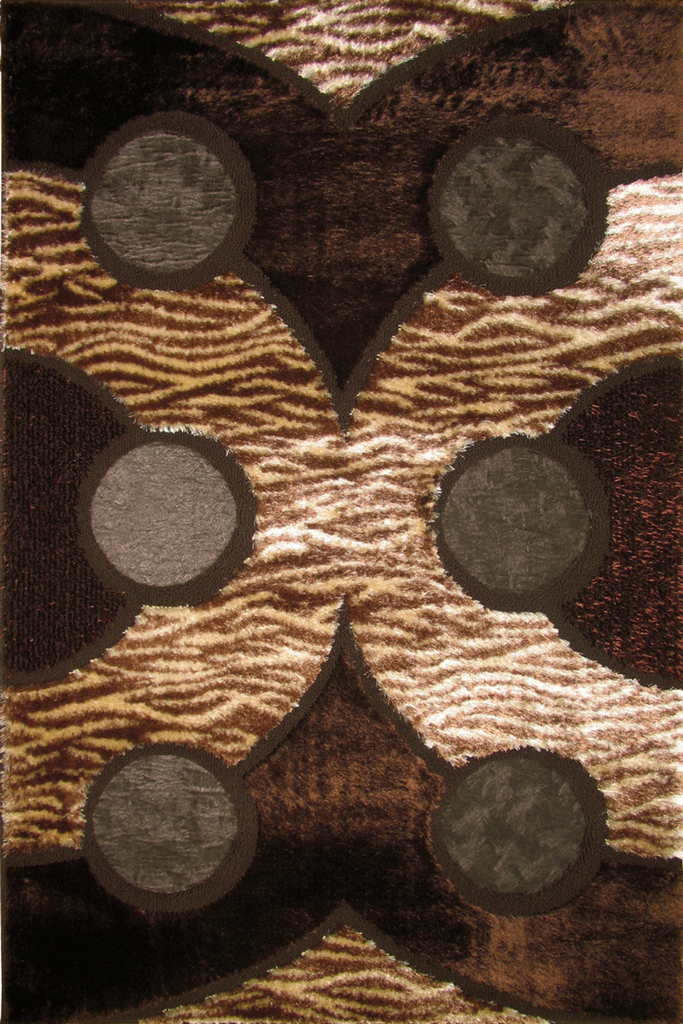 Brown Abstract Contemporary Rugs - Australia
