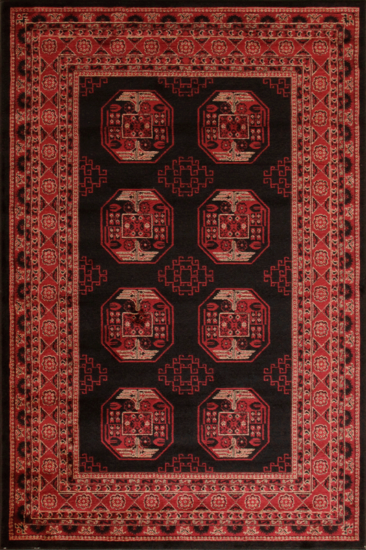 Red Black Geometric rugs - Traditional Classic Interior Design Style - Australia