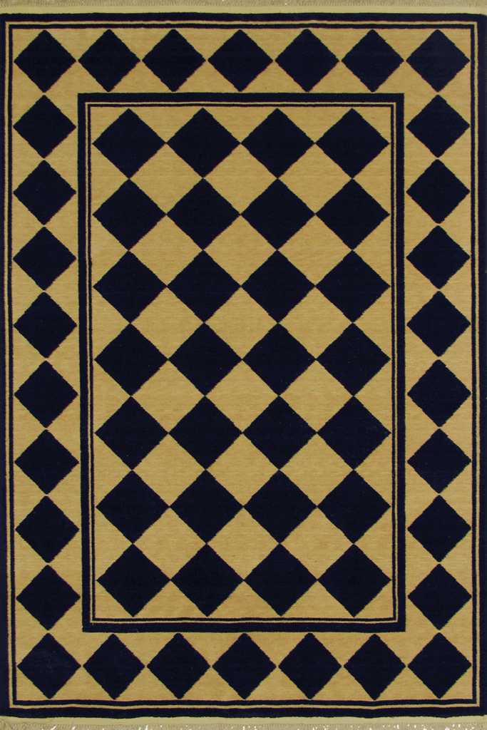 Yorkshire Diamond Pattern Wool Rug