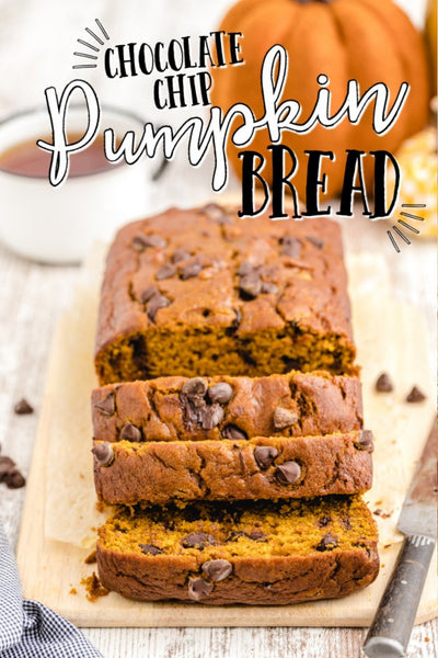 This Chocolate Chip Pumpkin Bread recipe only has five easy steps