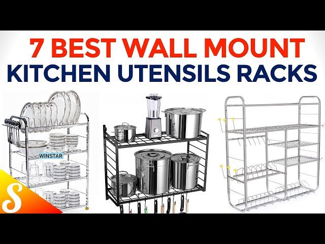 ClearTheClutter #KitchenOrganisers #WallMountKitchenRacks Top 7 Best Multi Purpose Kitchen Organiser Racks with Price