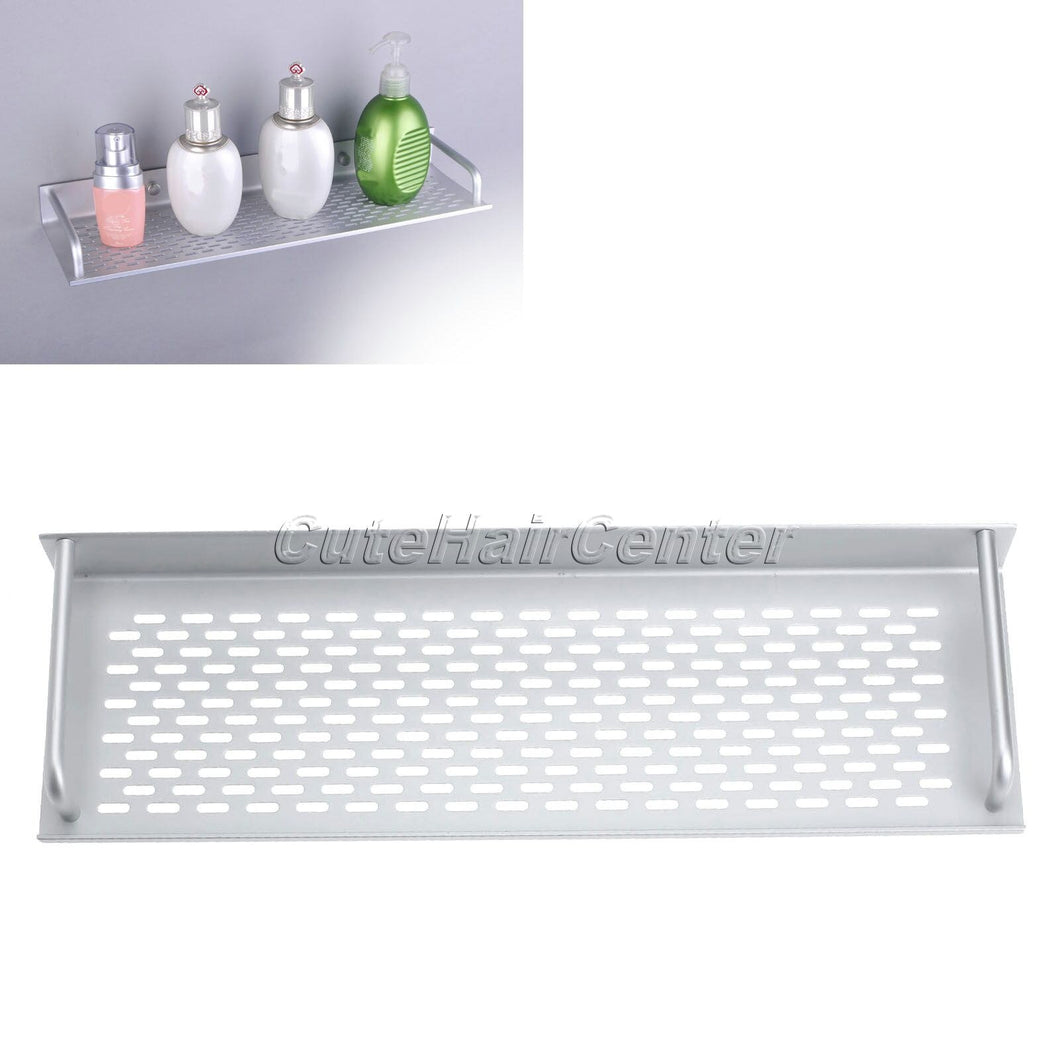 2016 Free Shipping Silver Rectangle Aluminum Bathroom Shelf Space Storage For Kitchen 40*12*4CM