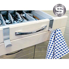 Load image into Gallery viewer, Buy now tatkraft seger over the door hooks reversible z hooks for over the door or cupboard door hold up to 11lbs 5 kg towel holders set of 2 stainless steel