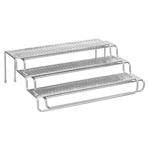 Buy mdesign adjustable expandable kitchen wire metal storage cabinet cupboard food pantry shelf organizer spice bottle rack holder 3 level storage up to 25 wide 2 pack silver