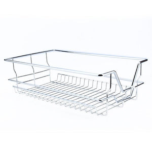 Kitchen kitchen sliding cabinet organizer pull out chrome wire storage basket drawer pull out cabinet shelf for kitchen cabinets cupboards 20 3 17 35 3