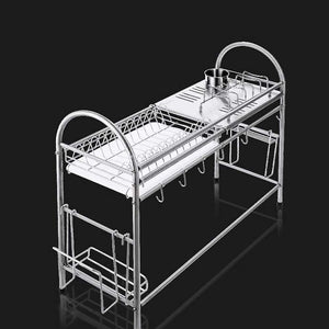 Kitchen Racks Dish Rack, Stainless Steel Drain Rack Sink Dish Rack Storage Rack Put Dish Rack Chopsticks Rack Knife Rack Cutting Board Chopsticks Tube