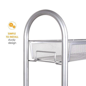 Best dalilylime 4 tier removable storage cart gap kitchen slim slide out storage tower rack with wheels cupboard with casters silver 4 layers 420s