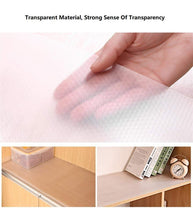 Load image into Gallery viewer, Order now bloss plastic shelf liners cabinet drawer liner non slip shelf liner non adhesive refrigerator mat cupboard pad no odor for kitchen home clear 17 7 59 inch