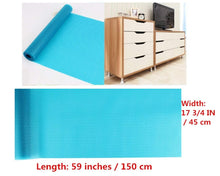 Load image into Gallery viewer, Selection hitytech shelf liner eva shelf liners can be cut refrigerator mats fridge cushion liner non adhesive cupboard liners non slip cabinet drawer table liners 59 x 17 3 4 in blue