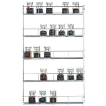 Load image into Gallery viewer, Top rated vonshef 5 tier spice rack chrome plated easy fix for herbs and spices suitable for wall mount or inside cupboard