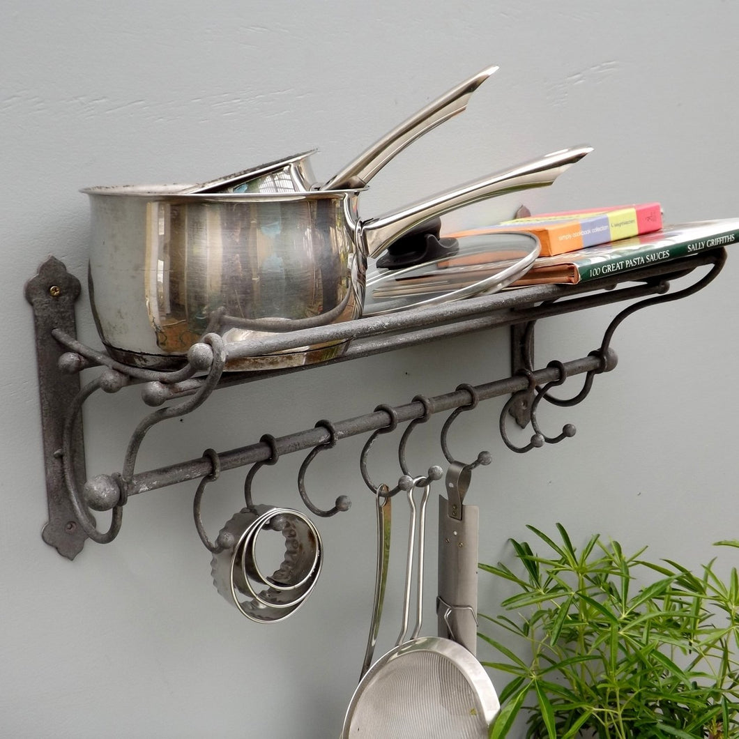 Grey Iron Kitchen Rack with 8 hooks
