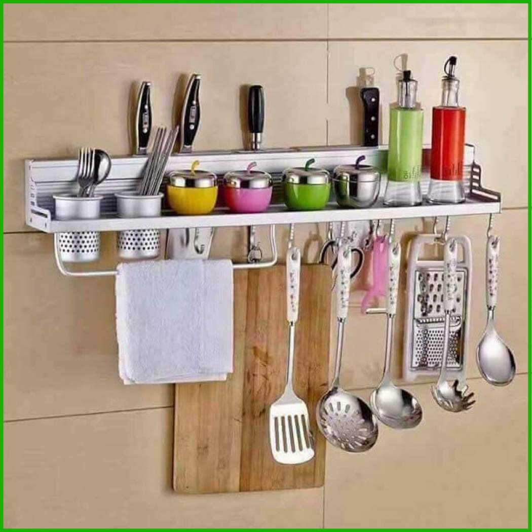 MULTI-FUNCTIONAL HANGING SHELF KITCHEN RACK ORGANIZER