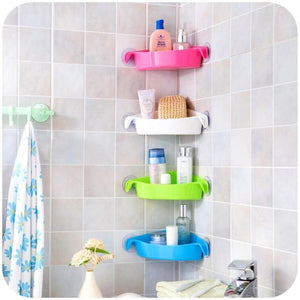 Multi-strong Sucker Bathroom Racks, Kitchen Racks, Toilet Corner Storage Rack