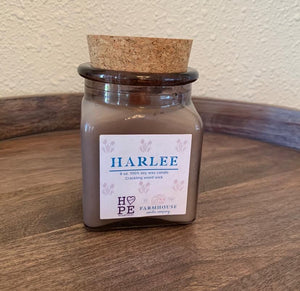 HARLEE HOLIDAY 8 oz wood wick candle