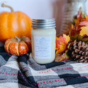 Autumn Leaves 16 oz Mason Jar candle