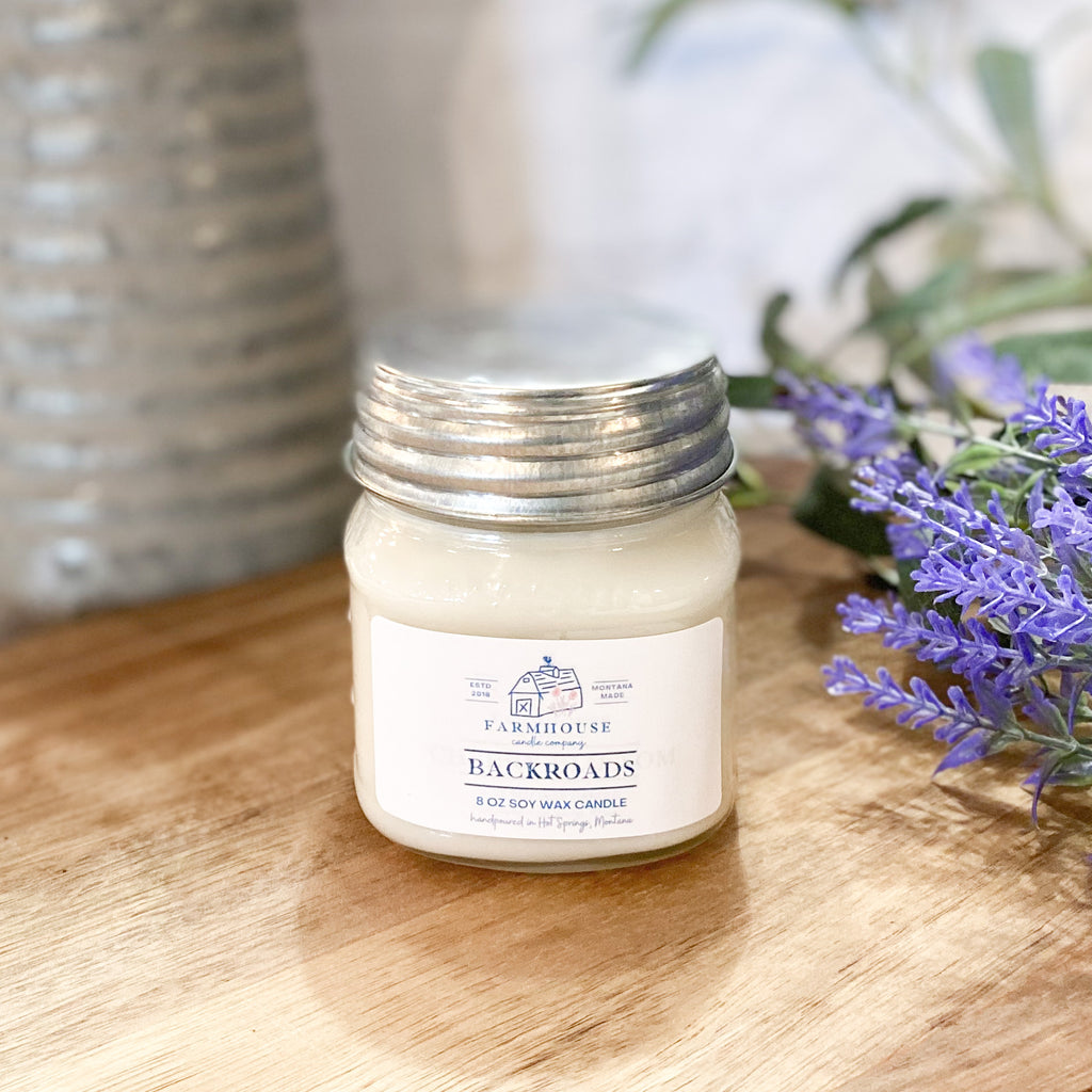 Backroads 8 oz Mason Jar candle