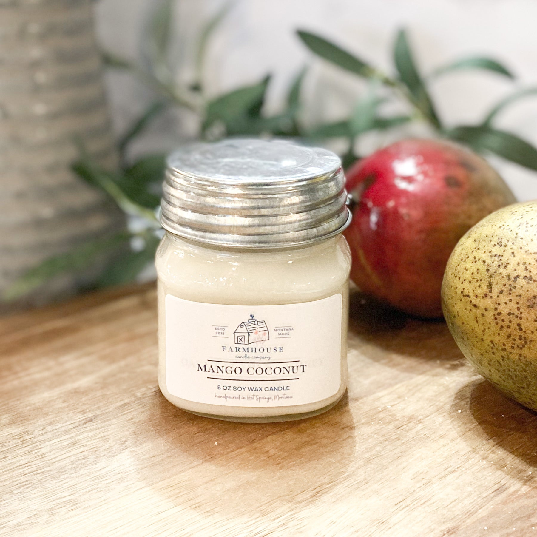 Mango Coconut 8 oz Mason Jar candle