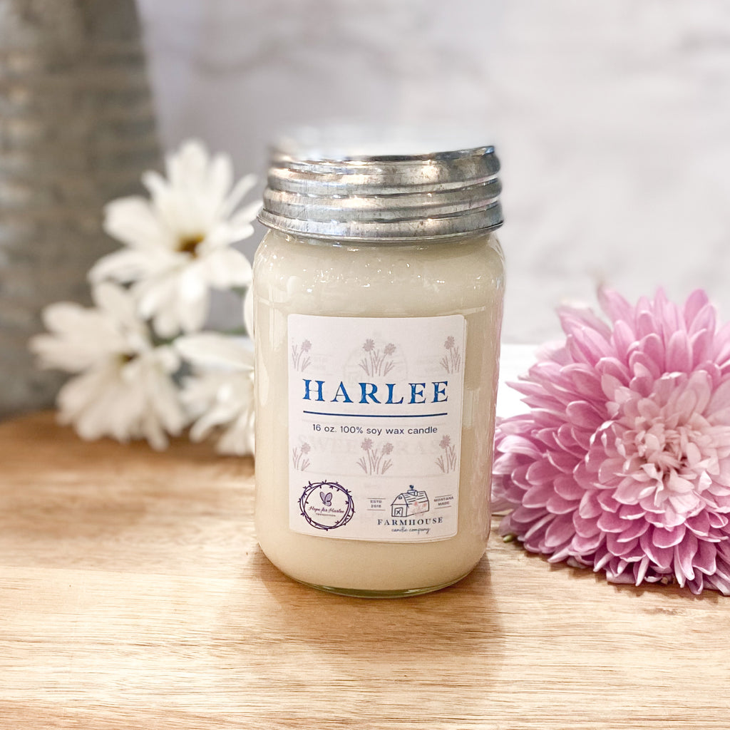 HARLEE 16 oz Mason Jar candle