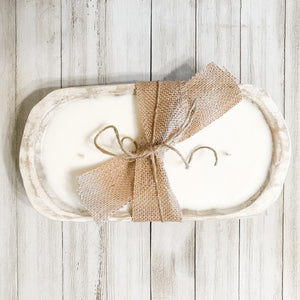 Small Dough Bowl Soy Candle - Whitewash
