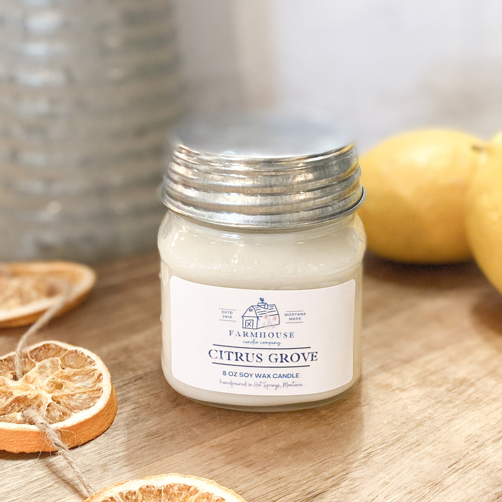 Citrus Grove 8 oz Mason Jar candle