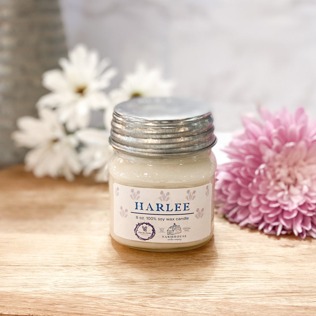 HARLEE 8 oz Mason Jar candle