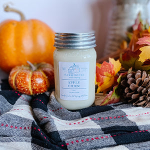 Apple Cider 16 oz Mason Jar candle