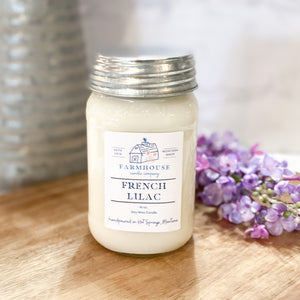 French Lilac 16 oz Mason Jar candle