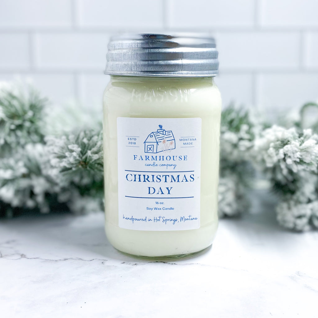 Christmas Day 16 oz Mason Jar candle