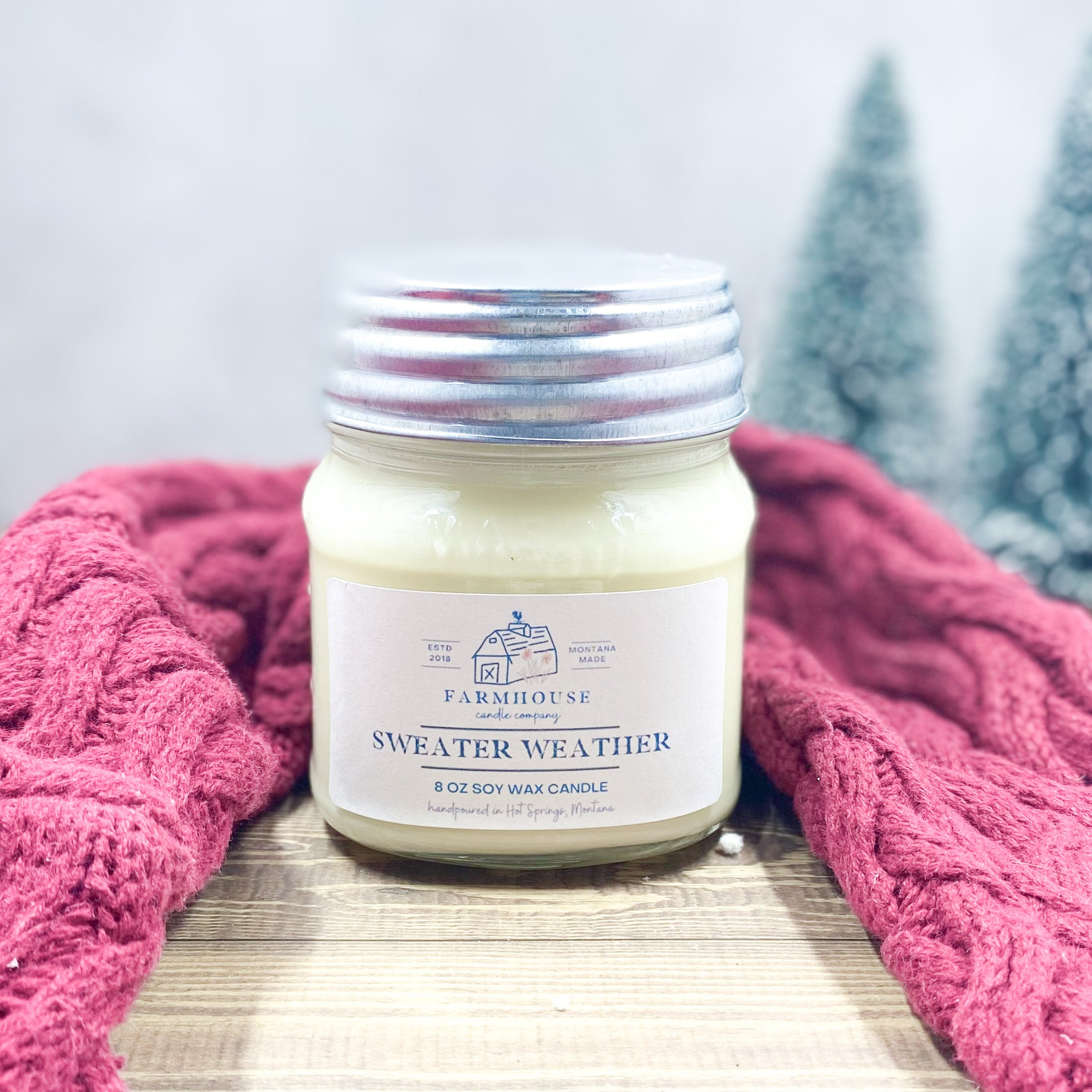 Sweater Weather 8 oz Mason Jar candle