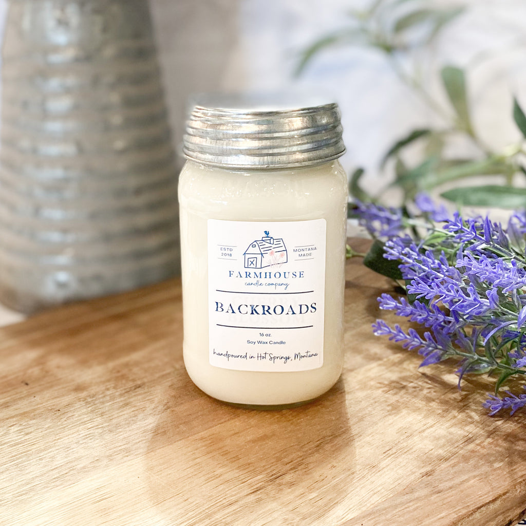 Backroads 16 oz Mason Jar candle