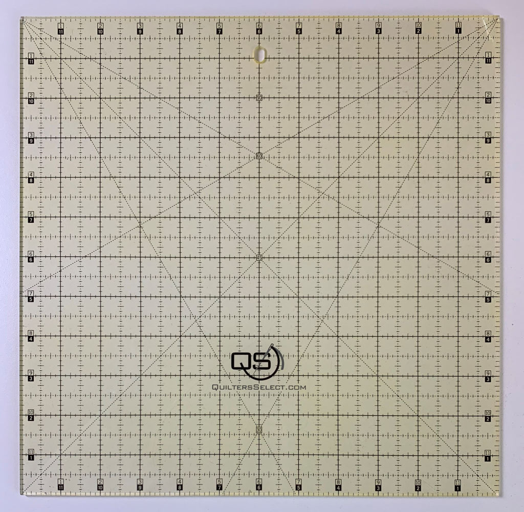"12"" x 12"" Quilter's Select Non-Slip Ruler"