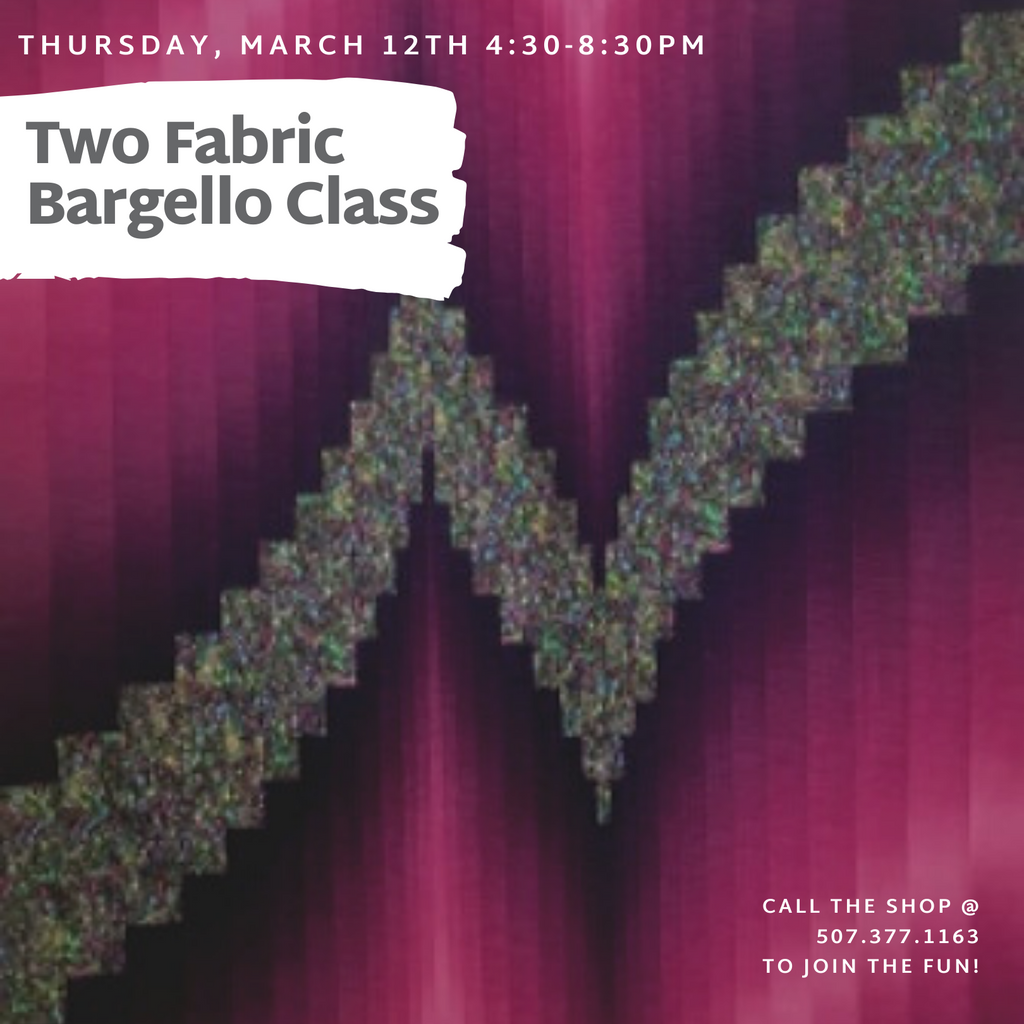 """Two Fabric Bargello"" Class - March 12"