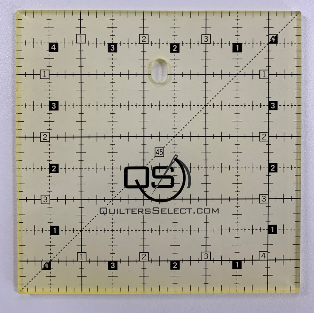"4.5"" square Quilter's Select Non-Slip Ruler"