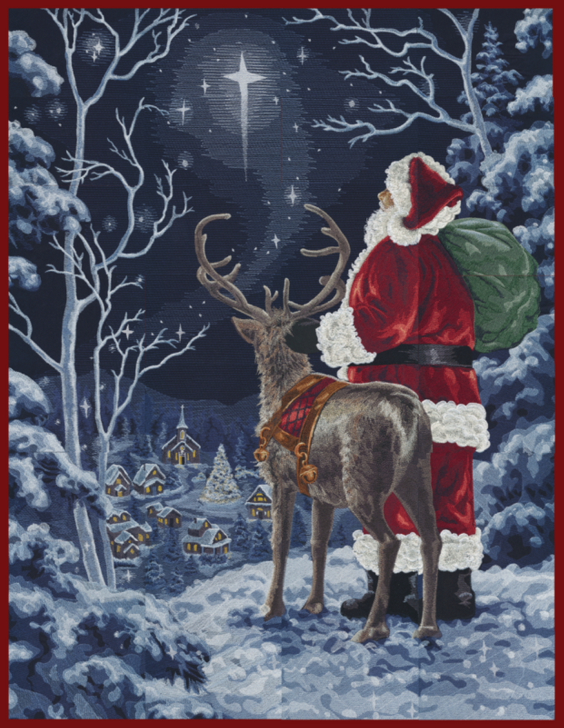 Starry Night Santa Machine Embroidery Designs CD