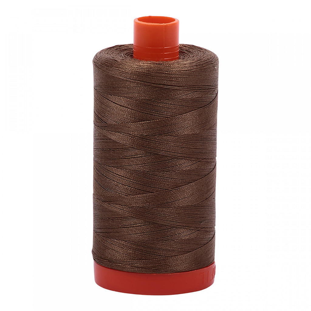 #MK50-1318 100% Cotton Aurifil 50wt Dark Sandstone