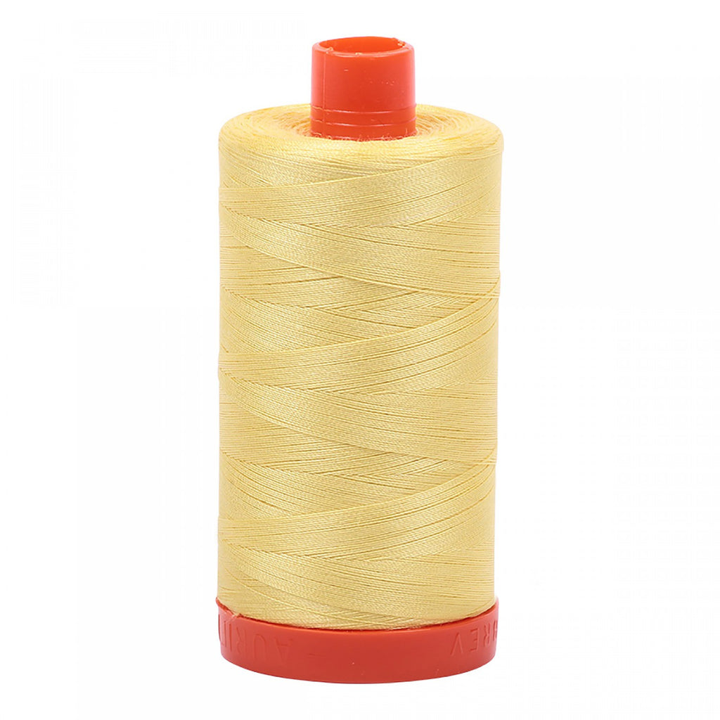 #MK50-2115 100% Cotton Aurifil 50wt Lemon