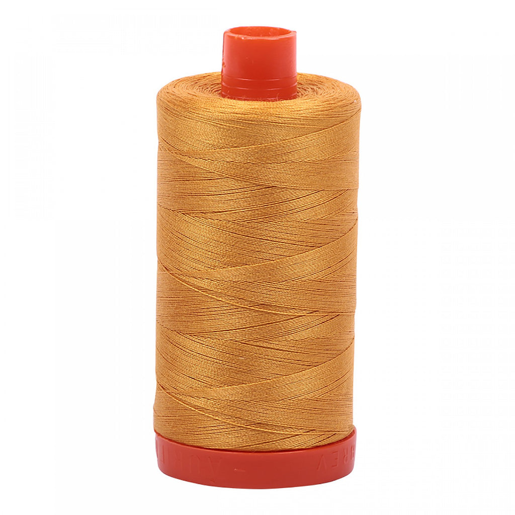 #MK50-2140 100% Cotton Aurifil 50wt Mustard Orange