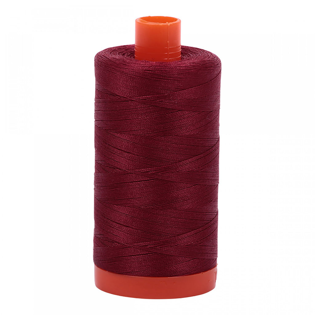 #MK50-2460 100% Cotton Aurifil 50wt Dark Carmine Red
