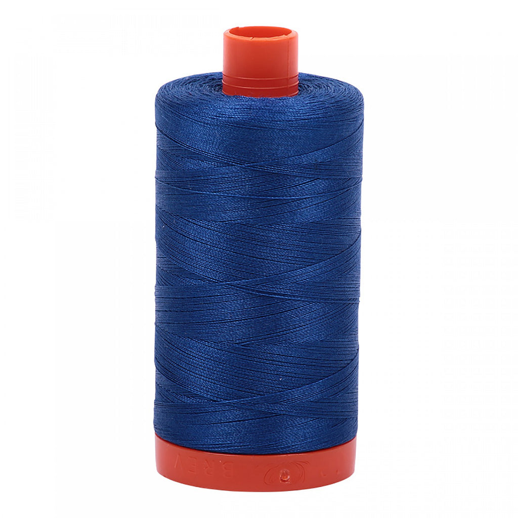 #MK50-2740 100% Cotton Aurifil 50wt Dark Cobalt