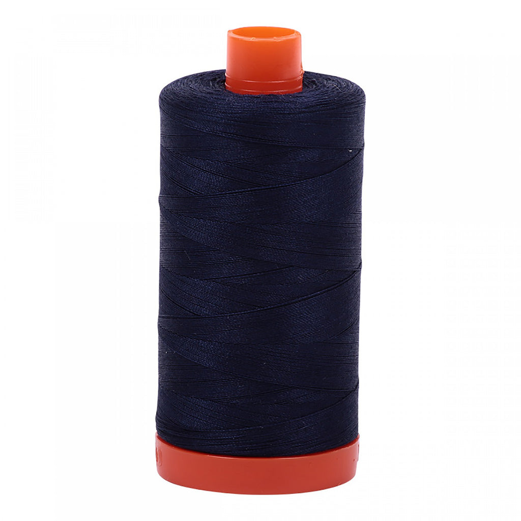 #MK50-2785 100% Cotton Aurifil 50wt Very Dark Navy