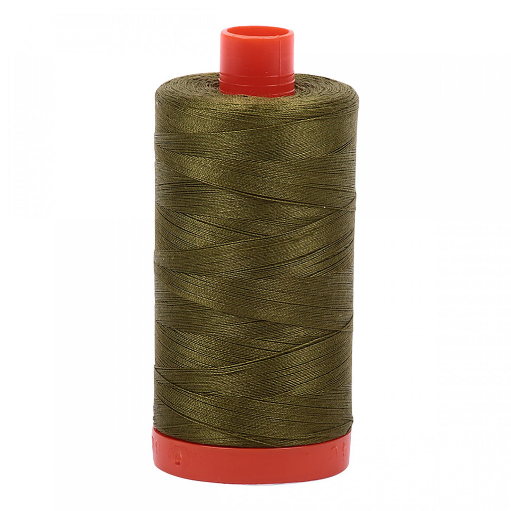 #MK50-2887 100% Cotton Aurifil 50wt Very Dark Olive