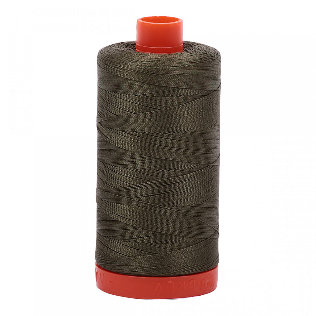 #MK50-2905 100% Cotton Aurifil 50wt Army Green