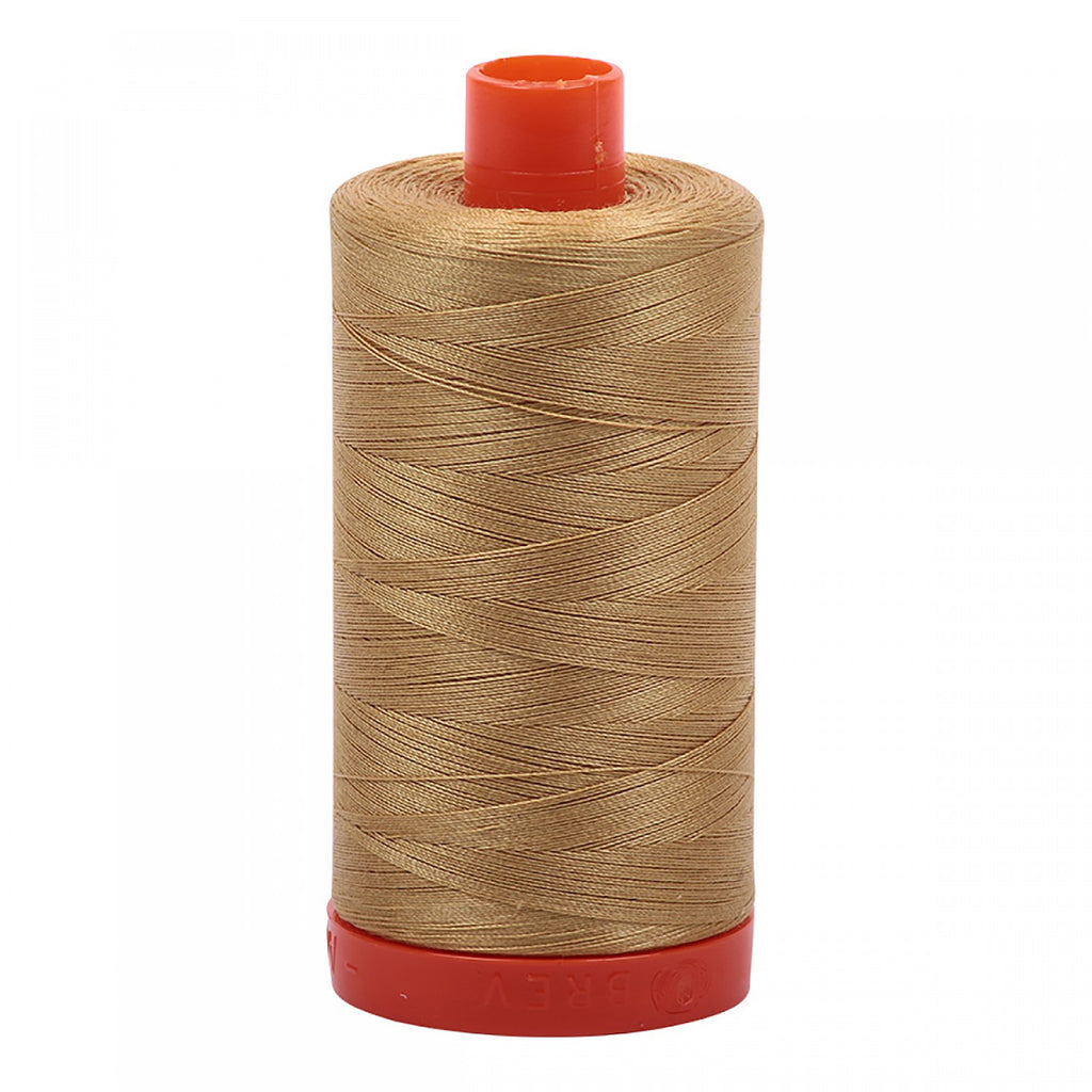 #MK50-2920 100% Cotton Aurifil 50wt Light Brass