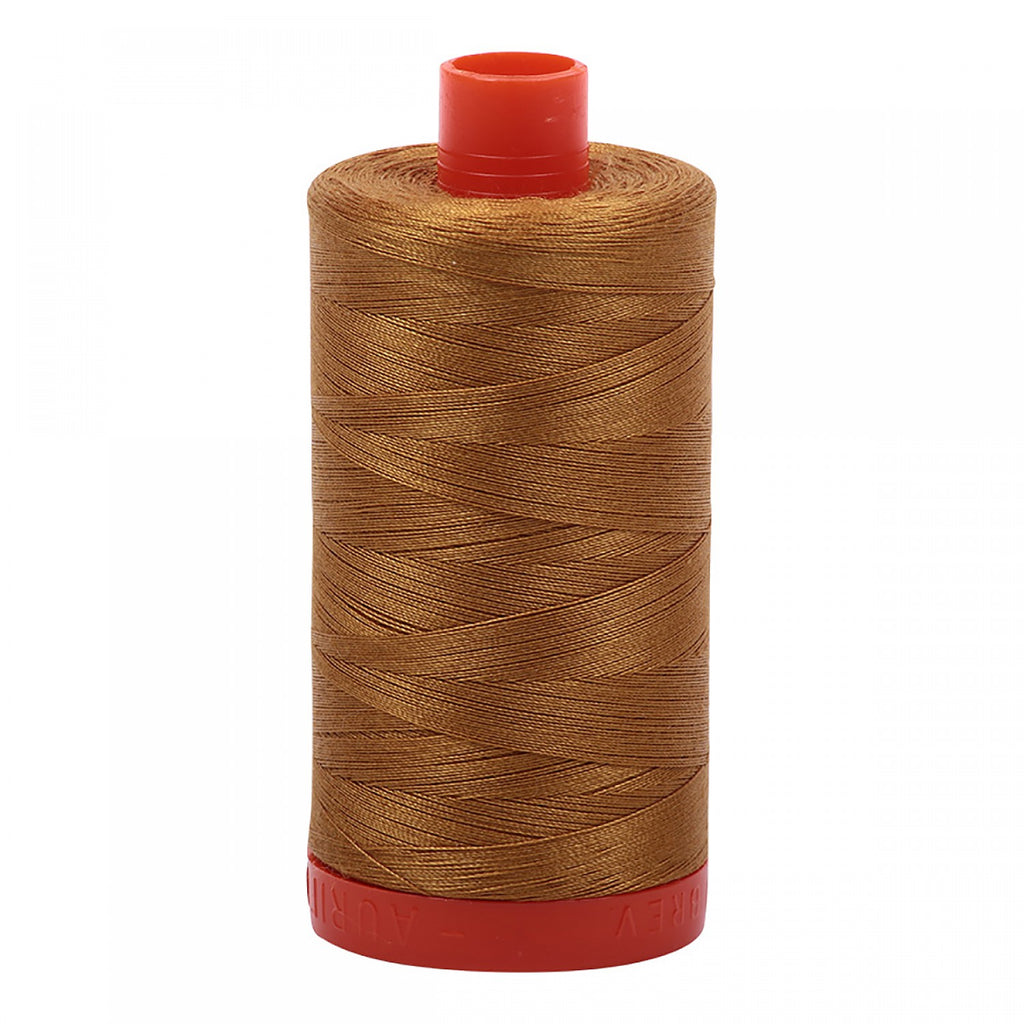 #MK50-2975 100% Cotton Aurifil 50wt Brass