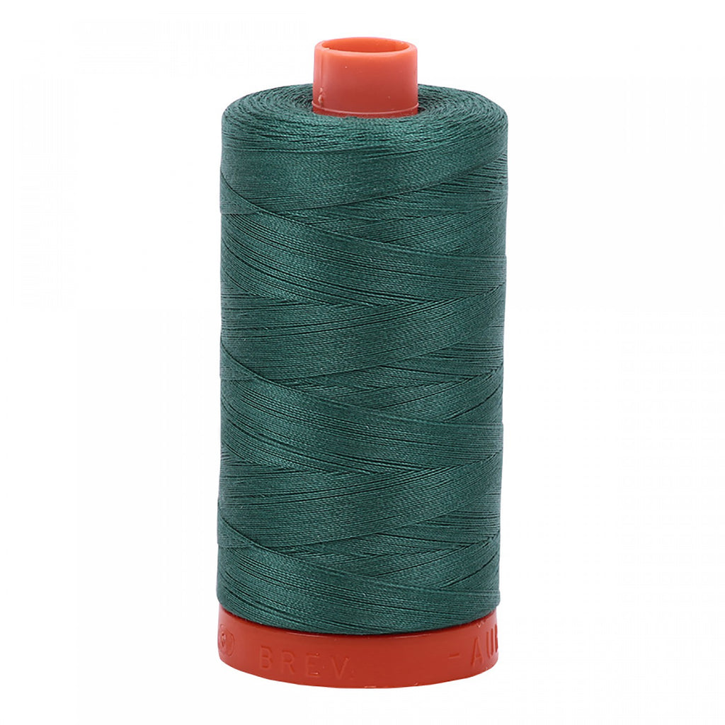 #MK50-4129 100% Cotton Aurifil 50wt Truf Green